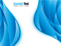 Blue Business Card Background Royalty Free Stock Photo