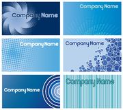 Blue business card designs Stock Photography