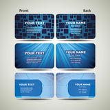 Blue Business Card Set Royalty Free Stock Photography