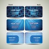 Blue Business Card Set royalty free illustration