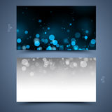 Blue business card template. Abstract  background Royalty Free Stock Images