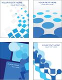 Blue business card template design Stock Photos