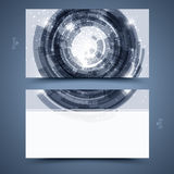 Blue business card template. Abstract  background  Stock Image