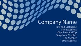 Blue Business Card Vector stock photos