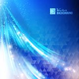 Blue business colorful wave background. Royalty Free Stock Photos