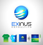 Blue business corporate logo design Royalty Free Stock Photography