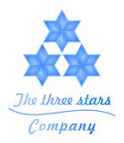 Blue business  glass 3D logo Stars Stock Photography