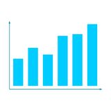Blue Business graph and chart. Business graph and chart, vector icon Stock Photos