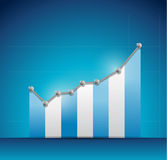 Blue business graph illustration design Royalty Free Stock Images