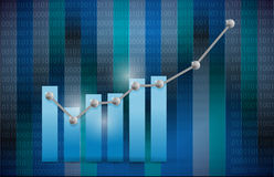 Blue business graph illustration design Royalty Free Stock Photography