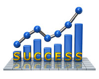 Blue business graph of success Royalty Free Stock Photo