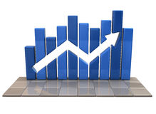 Blue business graph Royalty Free Stock Photo