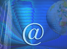 Blue business and Internet design. This design / image has a blue fractal background. It has a slight structure Stock Photos