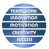 Blue Business motivation slogans Stock Images