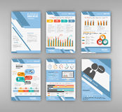 Blue business presentation template Royalty Free Stock Image