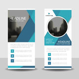 Blue Business Roll Up Banner flat design template ,Abstract Geometric banner template Stock Photography