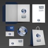 Blue business set template Stock Photo