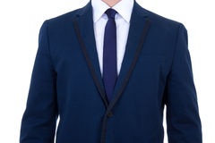 Blue business suit isolated on white Royalty Free Stock Images