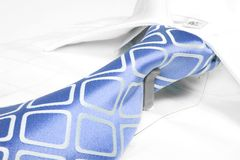 Blue business tie Stock Photos