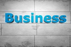 Blue business on the wall Stock Photos