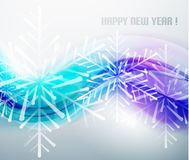 Blue business wave and Christmas snowflakes Royalty Free Stock Image