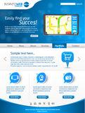 Blue business web template layout Stock Photo