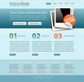 Blue business website template Stock Image