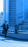 Blue business-world Stock Image