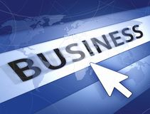 Blue business world concept Royalty Free Stock Photography