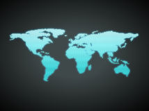 Blue business world map with countries borders Royalty Free Stock Images