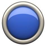 Blue buton Stock Image