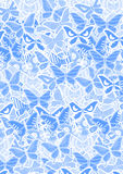 Blue butterflies. Art design of blue butterflies royalty free illustration