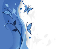 Blue butterflies background. For covers, decorations, backdrop and others royalty free illustration