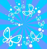 Blue butterflies background Royalty Free Stock Photos
