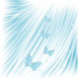 Blue butterflies with pearls wedding background vector. Illustration stock illustration