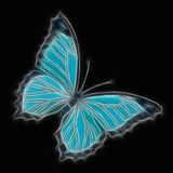 Blue butterfly. An abstract image of a stylised blue butterfly Vector Illustration