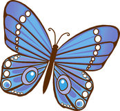 Blue Butterfly. Blue and purple Illustrated Butterfly royalty free illustration