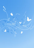 Blue butterfly background Stock Images