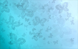 Blue Butterfly Background. Blue abstract background with butterflies in silhouette Stock Photos