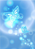 Blue butterfly. Effect, butterfly effect, butterfly shinning, backgrounds , shinning Royalty Free Stock Photos