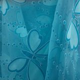 Blue butterfly fabric. Sheer moody blue butterfly fabric Stock Photography