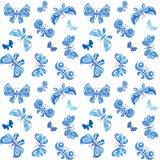 Blue butterfly fabric Stock Image