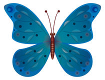 A blue butterfly isolated Stock Photography