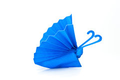 Blue butterfly paper Stock Images