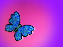 Blue butterfly. Paper cutting. Royalty Free Stock Image