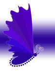 Blue butterfly symbol Stock Images