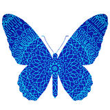 Blue butterfly. Vector illustration of Blue butterfly Stock Photos