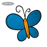 Blue Butterfly Vector Illustration Royalty Free Stock Images