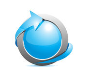 Blue button Stock Photography