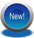 Blue button Royalty Free Stock Image